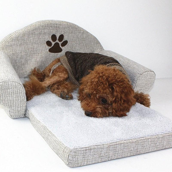 Comfortable Couch Shaped Foldable Dog Bed-Dog Beds-S-26413034-gray-s-china-Paws and Whiskers