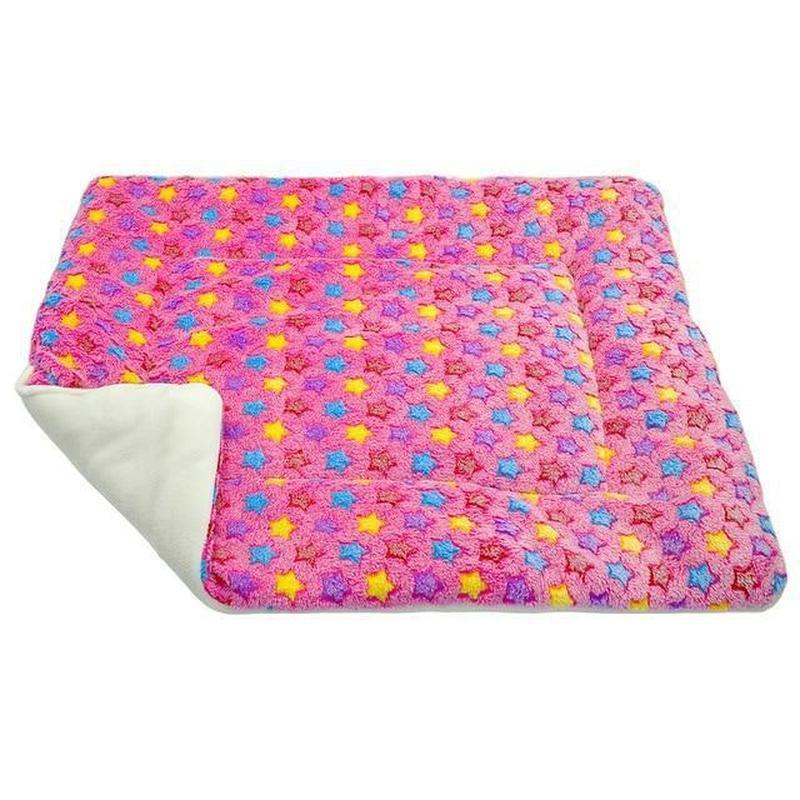 Comfortable Dog Fleece Blanket-Dog Blankets-Pink with Stars-L = 69 x 57 cm-21820914-2-l-Paws and Whiskers