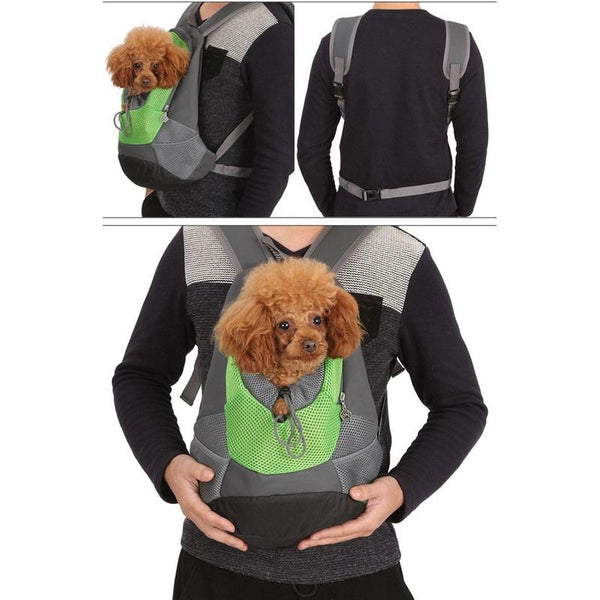 Comfy Dog Backpack with Head Out Design and Padded Shoulders-Dog Backpacks-Blue-S-25544522-blue-s-Paws and Whiskers