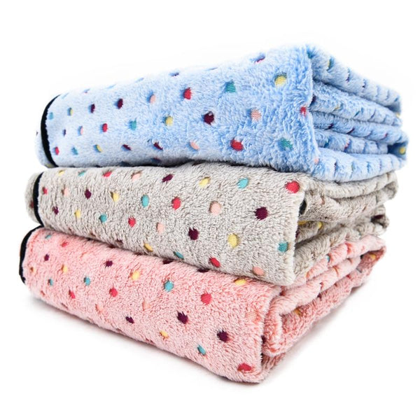 Coral Fleece Dog Blanket for All Dog Sizes-Dog Blankets-Beige-S-1629772-white-s-china-Paws and Whiskers