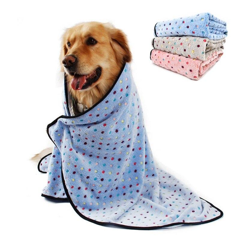Coral Fleece Dog Blanket for All Dog Sizes-Dog Blankets-Blue-L-1629772-blue-l-china-Paws and Whiskers
