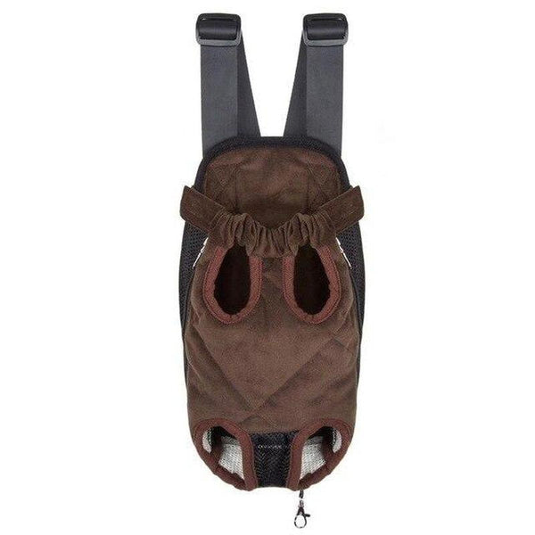 Cotton Dog Carrier Backpack with Four Legs Out Design-Dog Backpacks-Brown-S-14116800-black-s-Paws and Whiskers