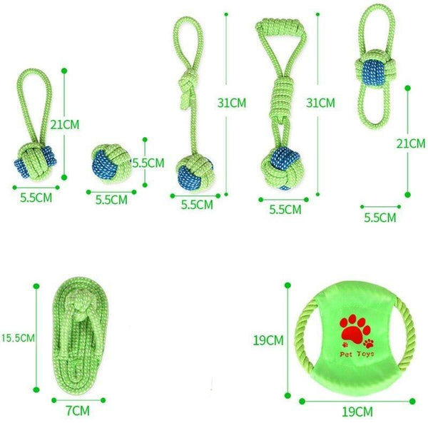 Cotton Dog Rope Chew Toys-Dog Rope Toys-Ball-939311-2-Paws and Whiskers