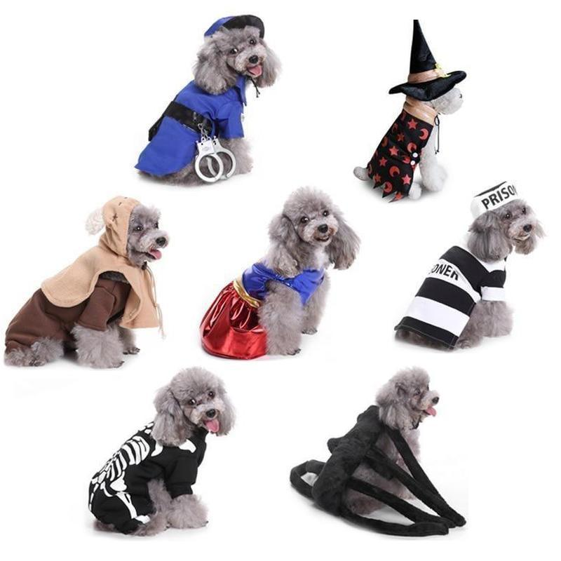 Cute Dog Costumes for Halloween Holidays-Dog Costumes & Dresses-Ballerina-S-19186034-as-picture-show-10-s-Paws and Whiskers