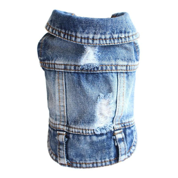 Denim Dog Jacket for Small Puppies-Dog Sweaters & Coats-Blue Denim Wash-XL-32466423-a-xl-Paws and Whiskers