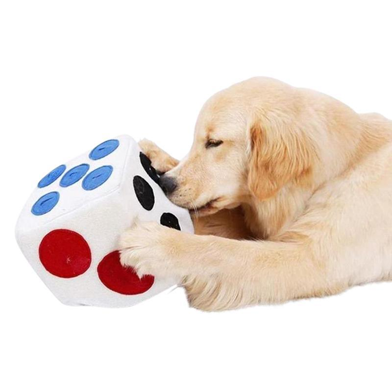 Dice-Shaped Foam Dog Slow Feeder Toy for All Sizes of Dog-Dog Slow Feeders-26025035-white-20x20x20cm-china-Paws and Whiskers