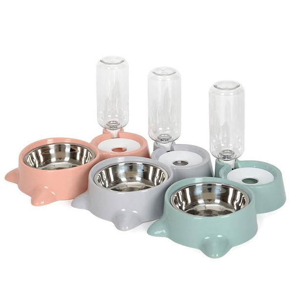Dog Bowl Feeder Dispenser for Small and Large Dogs-Dog Food & Water Bowls-Green-25704958-green-free-size-china-Paws and Whiskers