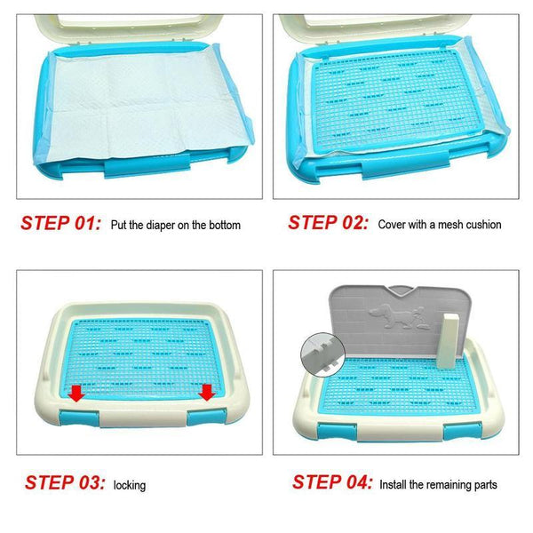Dog Litter Box Tray Mat for Dog Indoor Litter Training-Dog Potty Training-27682790-blue-m-Paws and Whiskers