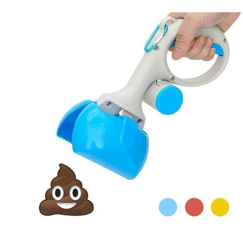 Dog Poop Scooper with Bag Dispenser-Scoops & Waste Disposal-Blue-Small-26747929-free-size-blue-s-Paws and Whiskers