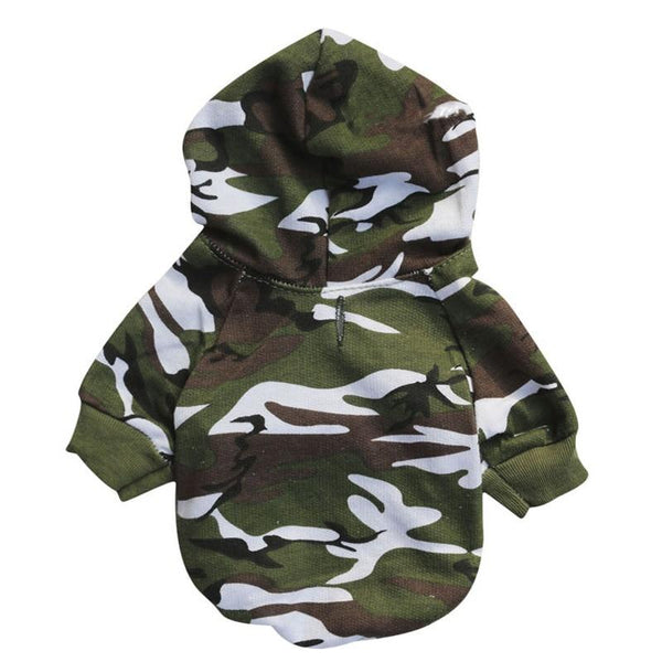 Dog Sweater Hoodie with Printed Funny Quotes-Dog Sweaters & Coats-Camo-XS-8192014-camo-xs-Paws and Whiskers
