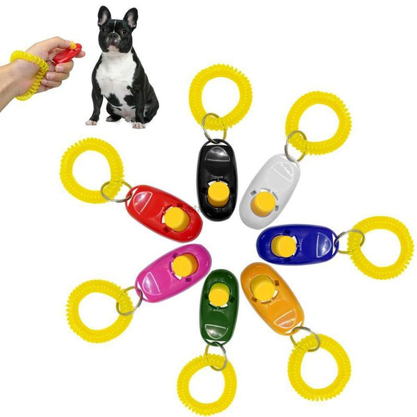 Dog Training Clicker with Wrist Strap Suitable for All Dogs-Dog Clicker Training-One Size-Black-1757090-s-black-Paws and Whiskers