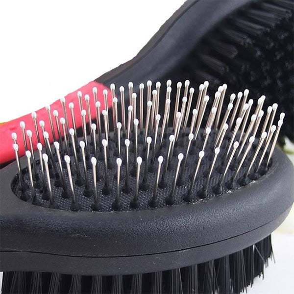 Double Sided Massage Dog Hair Brush-Dog Brushes, Combs & Blowdryers-S-135011-as-picture-s-Paws and Whiskers