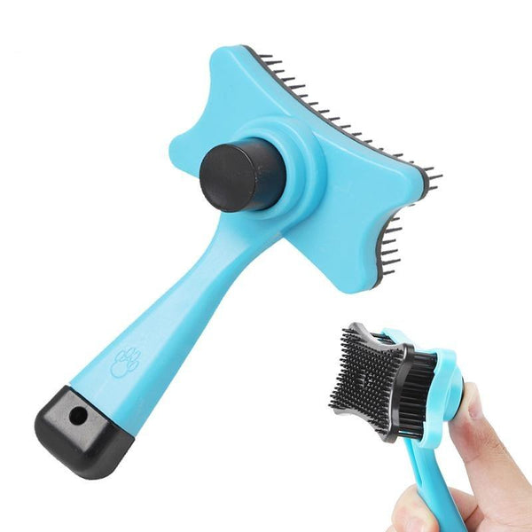 Easy Cleaning Dog Brush for Long and Short Hair Pets-Dog Brushes, Combs & Blowdryers-Blue-18708318-blue-12x7-5cm-Paws and Whiskers