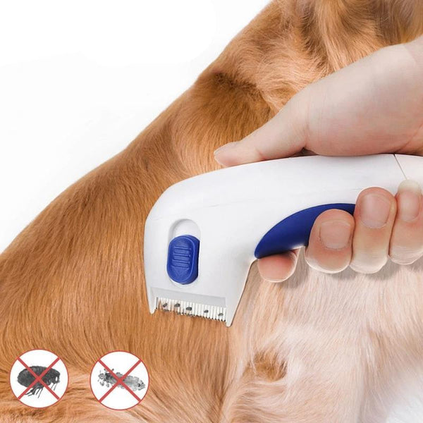 Electric Dog Brush for Removing Fleas and Lice-Dog Brushes, Combs & Blowdryers-29219688-white-one-size-Paws and Whiskers