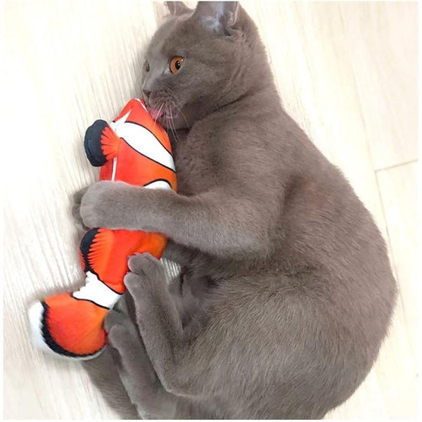 Electric Wagging Fish Cat Toy for Interactive Playing-Cat Interactive Toys-Blue-35261447-as-picture-one-size-Paws and Whiskers
