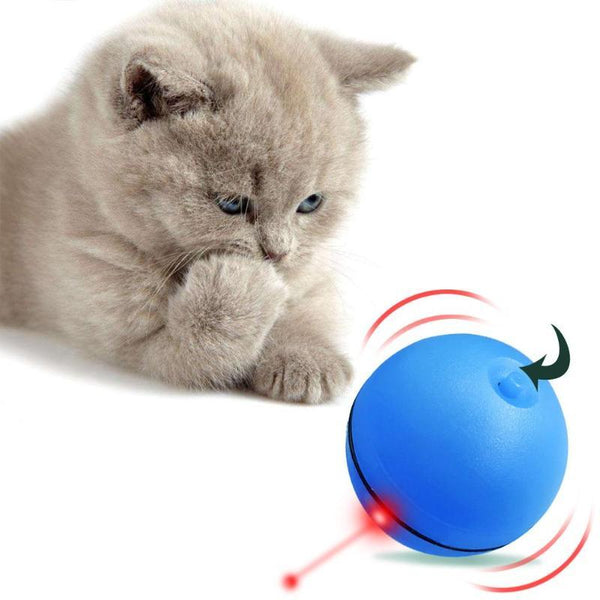 Electronic Jumping Ball Cat Toy with Attractive LED Light-Cat Interactive Toys-White-29066390-white-6-4cm-china-Paws and Whiskers