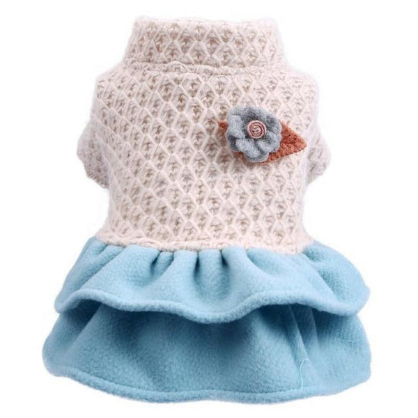 Fancy Dog Clothes with Layered Skirt for Cat and Dog-Dog Costumes & Dresses-XS-28497032-white-blue-xs-Paws and Whiskers