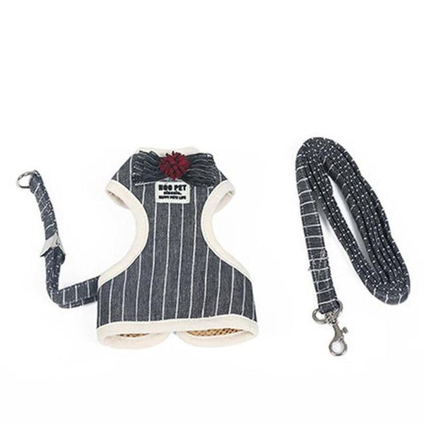 Fashionable Dog Harness-Dog Harnesses-Black With Bow Tie-S-5934236-bow-tie-black-s-Paws and Whiskers