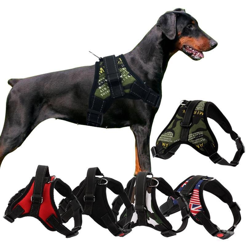 High-quality Easy Walk Harness for Big Dogs-Dog Harnesses-Army Green-XS-15228734-1-xs-Paws and Whiskers