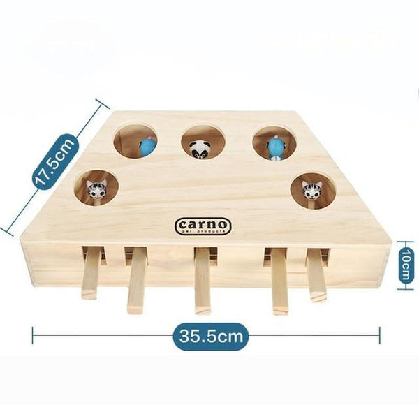 Hit the Mouse Interactive Cat Toy with 5 Holes-Cat Interactive Toys-Four Corners-25981736-5-Paws and Whiskers