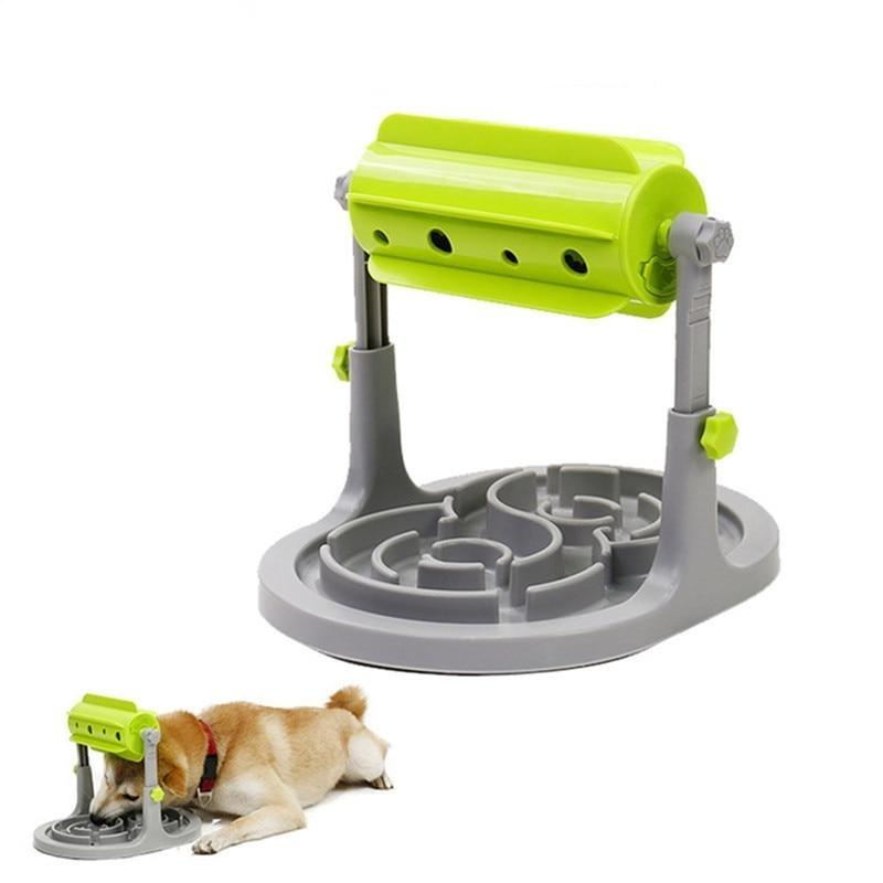 Interactive Anti Choke Slow Feeder Dog Bowl-Dog Slow Feeders-20187781-green-l-china-Paws and Whiskers