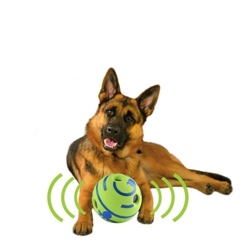 Interactive Ball Shaped Dog Toy with a Giggle Sound-Dog Balls-10cm-31396018-green-10cm-Paws and Whiskers