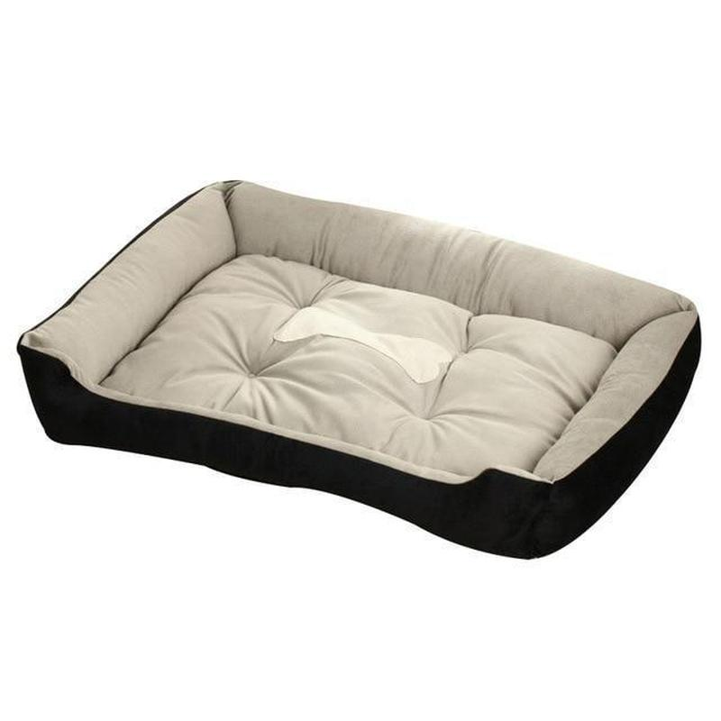 Large Pillow Style Dog Bed Made from Warm Soft Fleece-Dog Beds-Black-XXS = 45 x 30 x 15 cm-5564478-black-xxs-Paws and Whiskers