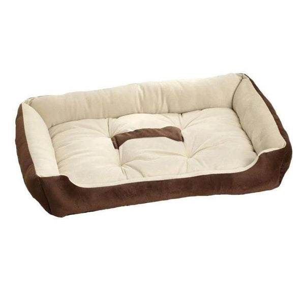 Large Pillow Style Dog Bed Made from Warm Soft Fleece-Dog Beds-Brown-XXS = 45 x 30 x 15 cm-5564478-brown-xxs-Paws and Whiskers