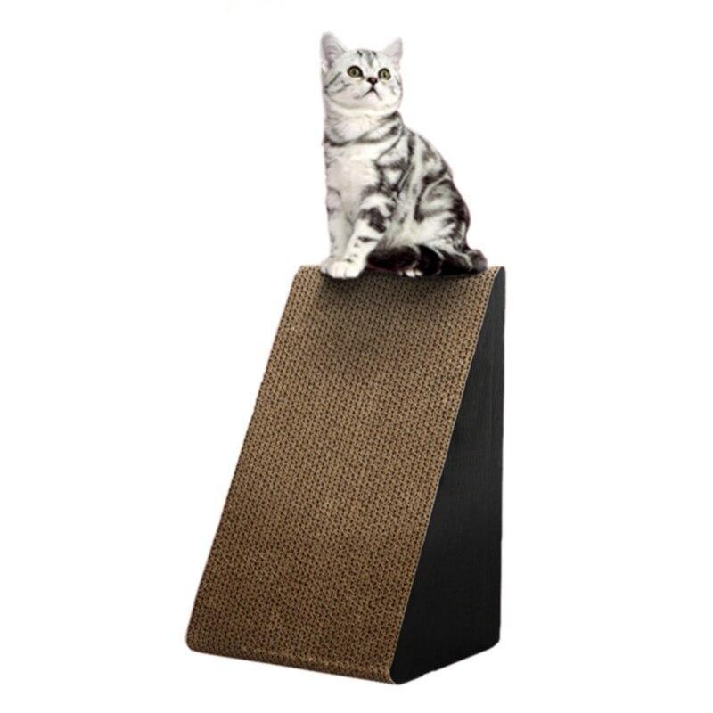 Large Triangular Cat Scratching Post-Cat Scratchers & Towers-10752002-white-one-size-Paws and Whiskers