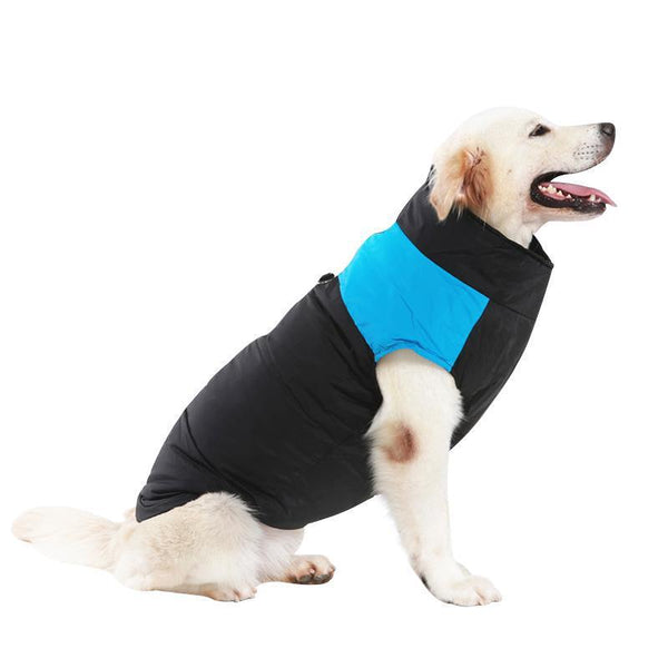 Large Waterproof Dog Coat Made from Cotton-Dog Sweaters & Coats-Blue-S-28686259-blue-s-Paws and Whiskers