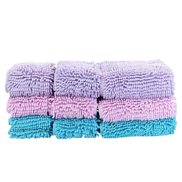Lightweight Cotton Microfibre Dog Towel with Hoodie-Dog Bath & Shower-Blue-S = 35 x 60cm-21468484-blue-s-china-Paws and Whiskers