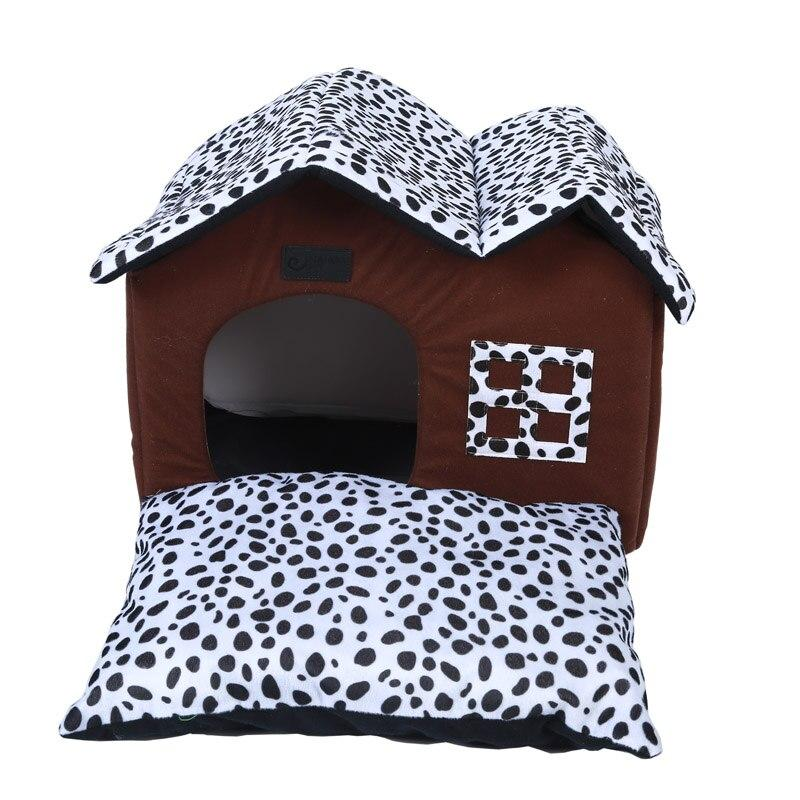 Luxurious Dog House with Removable Cushion for Small Dog-Dog Houses-29705546-brown-46-x-32-x-34-cm-Paws and Whiskers