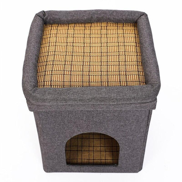Multifunction Cat Scratcher House for Kittens and Cats-Cat Scratchers & Towers-27423342-gray-s-Paws and Whiskers