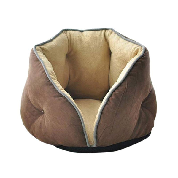 Open Top Cat Cave Made From Soft Coral Fleece-Cat Beds-Blue-S = 41 x 46 x 34 cm-28414718-blue-m-Paws and Whiskers