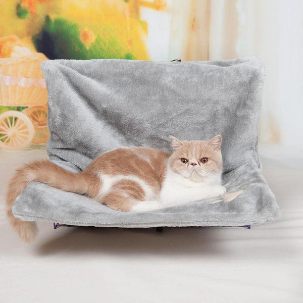 Pillow style Cat Bed Suitable For Windowsill Or Radiator-Cat Window Perches-Gray-46 x 30 x 25 cm-22865758-gray-l-46x30x25-cm-Paws and Whiskers