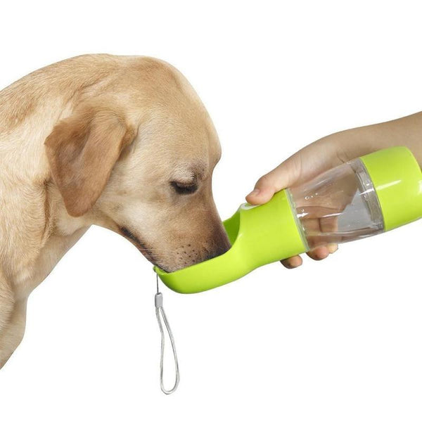 Portable Dog Bottle With Food And Water Compartments-Dog Food & Water Bowls-Blue-27368200-blue-china-Paws and Whiskers