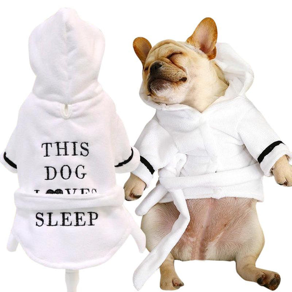 Printed Polyester Dog Pyjamas with Hoodie-Dog Sweaters & Coats-XS-30724358-white-xs-Paws and Whiskers