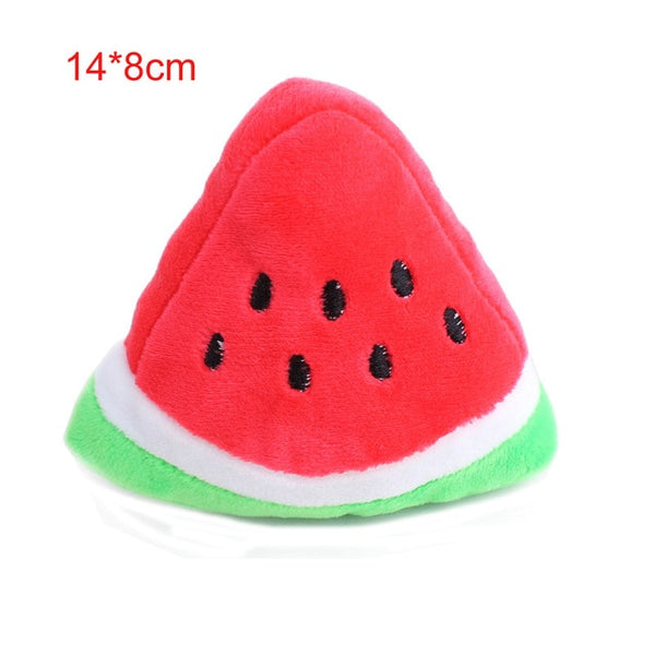 Adorable Soft Plush Squeaky Toy for All Dog Sizes and Ages-Dog Plush Toys-Watermelon-64694-watermelon-free-size-Paws and Whiskers