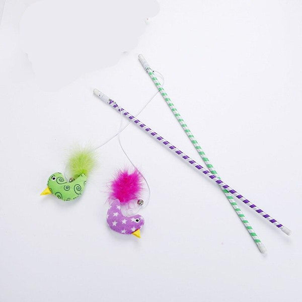 Quality Feather Teaser Cat Toys-Cat Balls & Chasers-9122021-as-picture-wand-47cm-Paws and Whiskers