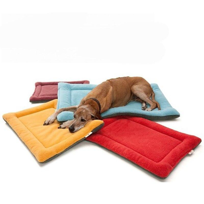 Rectangular Dog Mat with Cozy Fleece Material-Dog Mats-Beige-XS = 50 x 36 cm-3080808-beige-xs-Paws and Whiskers
