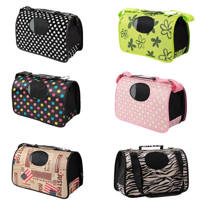 Single Shoulder Dog Carrier Bag-Dog Travel Carriers-Colorful Dots-S = 34 x 18 x 24 cm-11660159-colorful-dot-s-Paws and Whiskers