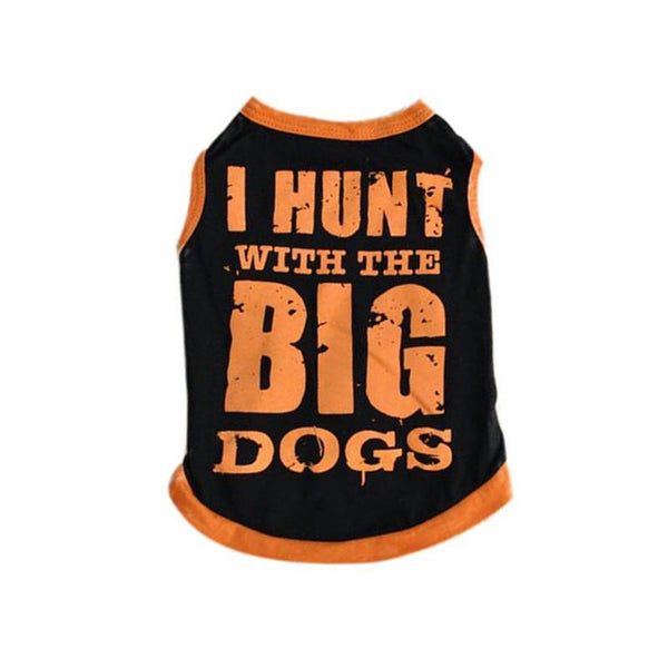 Sleeveless Summer Cat T Shirt With Adorable Quote Prints-Cat T-Shirts & Tank Tops-I HUNT- Orange-L-22579510-4-l-Paws and Whiskers