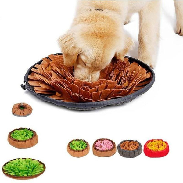 Slow Feeder Dog Bowl with Searching Practice Feature-Dog Slow Feeders-Brown-26352642-brown-one-size-Paws and Whiskers