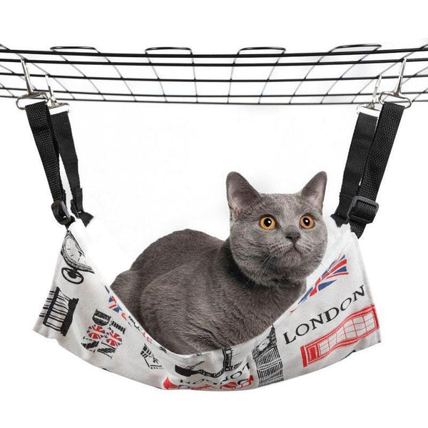Soft Cat Hammock with Easy-Attach Hook to Hang in The Cage-Cat Hammocks-Bears-S = 38 x 33 cm-34933080-bear-38x33cm-Paws and Whiskers