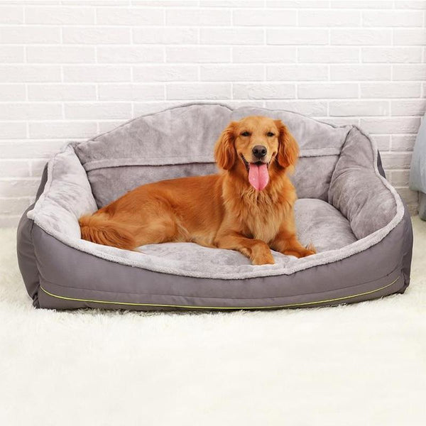 Soft Plush Dog Bed with Removable Cover-Dog Beds-S = 60 x 50 x 37 cm-29776376-silver-s-60x50x37m-Paws and Whiskers