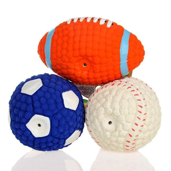 Squeaky Toy with Various Ball Shapes for All Dogs-Dog Rope Toys-Blue-S-1948362-blue-s-Paws and Whiskers