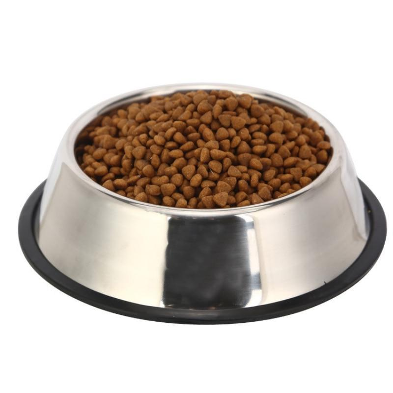 Stainless Steel Dog Bowl with Anti-Slip Pad-Dog Food & Water Bowls-22cm-24790871-22cm-china-Paws and Whiskers