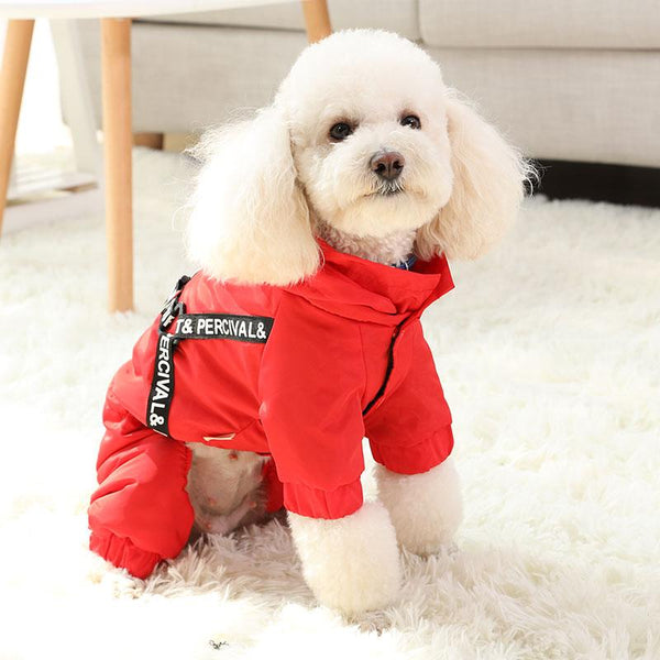 Stylish Dog Coat with Harness-Dog Sweaters & Coats-XS-30440234-red-xs-Paws and Whiskers