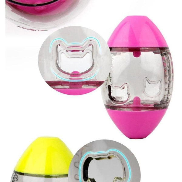 Transparent Egg Shaped Dog Slow Feeder Toy-Dog Slow Feeders-Pink-Small - 8 x 5 cm-25102340-pink-small-china-Paws and Whiskers