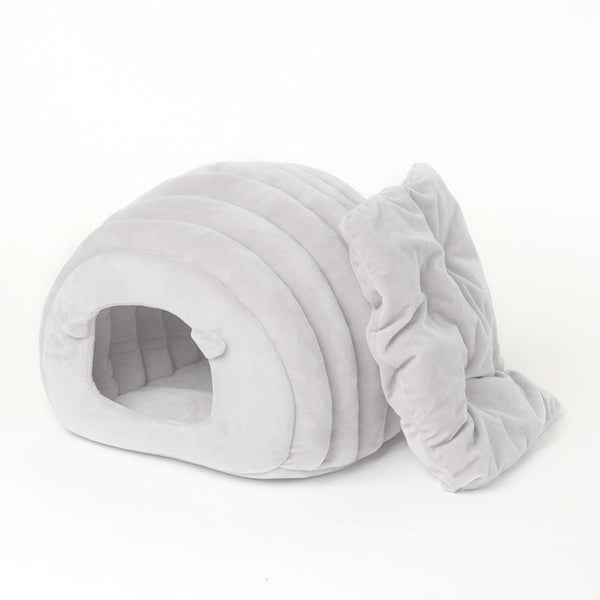 Ultra-Warm and Fluffy Dog House With Removable Cushion-Dog Houses-Gray-26396988-gray-38x42x33cm-china-Paws and Whiskers